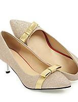 Недорогие -Жен. Комфортная обувь Сатин Весна Обувь на каблуках На шпильке Золотой / Черный / Серебряный