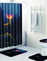 Недорогие -1 комплект Мультяшная тематика Коврики для ванны 100 г / м2 полиэфирный стреч-трикотаж Новинки нерегулярный Ванная комната Новый дизайн