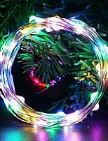Недорогие -3м гирлянда 30 светодиодов теплый белый / многоцветный декоративный / свадьба с батарейным питанием 10шт