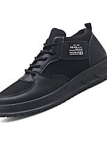 Недорогие -Муж. Комфортная обувь Сетка / Полиуретан Осень На каждый день Кеды Нескользкий Белый / Черный
