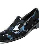 Недорогие -Муж. Комфортная обувь Полиуретан Осень На каждый день Мокасины и Свитер Нескользкий Контрастных цветов Черно-белый / Черный / Красный / Черный / синий
