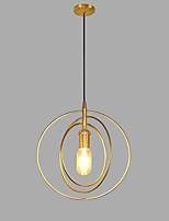 baratos -Circular Luzes Pingente Luz Ambiente Dourado Metal AC100-240V Lâmpada Não Incluída / SAA