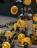 abordables -6m Guirlandes Lumineuses 40 LED Blanc Chaud Décorative 220-240 V 1 set