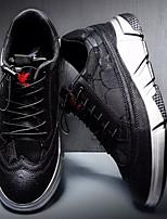 Недорогие -Муж. Комфортная обувь Полиуретан Весна & осень Кеды Черно-белый