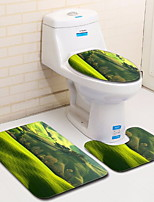 Недорогие -3 предмета Modern Коврики для ванны 100 г / м2 полиэфирный стреч-трикотаж Геометрический принт нерегулярный Ванная комната обожаемый