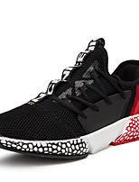Недорогие -Муж. Комфортная обувь Сетка Наступила зима На каждый день Кеды Черно-белый / Синий / Черный / Красный