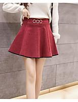 Недорогие -женские мини-юбки - сплошной цвет