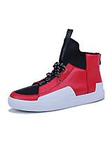 Недорогие -Муж. Комфортная обувь Кожа Осень Спортивные / На каждый день Кеды Белый / Черный / Красный