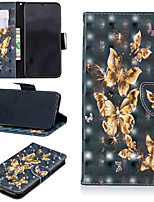 billiga -fodral Till Apple iPhone XS / iPhone XS Max Plånbok / Korthållare / med stativ Fodral Fjäril Hårt PU läder för iPhone XS / iPhone XR / iPhone XS Max