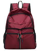 Недорогие -Жен. Мешки холст рюкзак Молнии Лиловый / Пурпурный / Винный