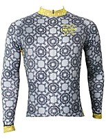 Недорогие -ILPALADINO Муж. Длинный рукав Велокофты - Серый Мода Велоспорт Верхняя часть Зима, Эластан
