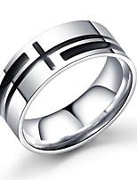 Недорогие -Муж. Классический Кольцо - Титановая сталь Крест Стиль, Винтаж, европейский Серебряный Назначение Свидание Тренировочные