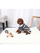 baratos -Cachorros / Gatos Jaqueta Roupas para Cães Sólido Cinzento / Marron Tecido de Algodão / Flanela / Algodão Ocasiões Especiais Para animais de estimação Unisexo Aquecimento / Minimalista