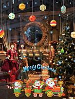 Недорогие -Оконная пленка и наклейки Украшение Рождество Праздник ПВХ Жутко