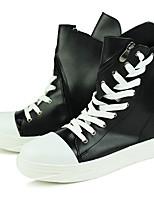 Недорогие -Муж. Комфортная обувь Синтетика Осень Спортивные / На каждый день Кеды Сохраняет тепло Белый / Черный