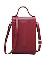 Недорогие -Жен. Мешки PU Мобильный телефон сумка Молнии Розовый / Темно-серый / Винный