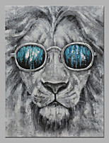 Недорогие -Hang-роспись маслом Ручная роспись - Абстракция / Поп-арт Modern холст