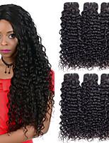 Недорогие -6 Связок Бразильские волосы Волнистые 8A Натуральные волосы Человека ткет Волосы Пучок волос One Pack Solution 8-28 дюймовый Естественный цвет Ткет человеческих волос Машинное плетение