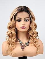 Недорогие -человеческие волосы Remy Полностью ленточные Лента спереди Парик Бразильские волосы Естественные кудри Свободные волны Парик Ассиметричная стрижка 130% 150% 180% Плотность волос / Природные волосы