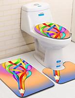 Недорогие -3 предмета На каждый день Коврики для ванны 100 г / м2 полиэфирный стреч-трикотаж В полоску нерегулярный Ванная комната Градиент цвета