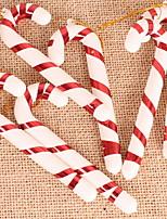 baratos -Decorações de férias Decorações Natalinas Natal Festa Vermelho 6pcs