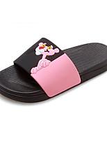 Недорогие -Жен. Комфортная обувь Синтетика Лето Тапочки и Шлепанцы На плоской подошве Белый / Черный / Розовый