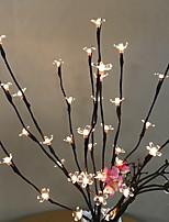 Недорогие -0,75м Гирлянды 20 светодиоды Тёплый белый Декоративная Аккумуляторы AA 1 комплект