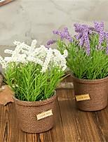 abordables -Fleurs artificielles 1 Une succursale Classique / Simple Rustique / Style Simple Lavande Fleur de Table