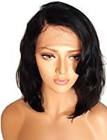 Недорогие -Remy Полностью ленточные Лента спереди Парик Бразильские волосы Волнистый Естественные кудри Парик Ассиметричная стрижка 130% 150% 180% Плотность волос Женский Легко туалетный Лучшее качество