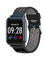 abordables -Bracelet à puce SN60 PRO pour Android iOS Bluetooth Sportif Imperméable Moniteur de Fréquence Cardiaque Mesure de la pression sanguine Calories brulées Podomètre Rappel d'Appel Moniteur de Sommeil