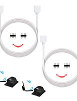 billiga -zdm® 2st 300 cm smd 5050 / smd 2835/3528 smd strips ljustillbehör / ledstångsförlängningsledning elektrisk kabelplast& metall för rgb ledd strip ljus