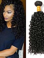 Недорогие -4 Связки Монгольские волосы Kinky Curly 8A Натуральные волосы Головные уборы Удлинитель Пучок волос 8-28 дюймовый Черный Естественный цвет Ткет человеческих волос Машинное плетение
