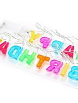 baratos -1.5m Cordões de Luzes 13 LEDs Vermelho / Multicolorido Decorativa Baterias AA alimentadas 1conjunto