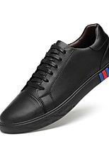 Недорогие -Муж. Кожаные ботинки Кожа Весна Спортивные / На каждый день Кеды Нескользкий Белый / Черный