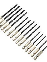 Недорогие -15pc шестигранная ручка черная сверлильная сверло 3 мм4мм5мм высокоскоростная стальная установка для сверления отверстий из дерева