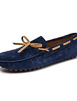 Недорогие -Муж. Комфортная обувь Кожа Наступила зима На каждый день Мокасины и Свитер Нескользкий Черный / Коричневый / Синий