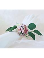 Недорогие -Свадебные цветы Букетик на запястье Свадьба / Свадебные прием Ткань 0-10 cm