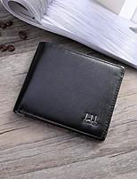 Недорогие -Муж. Мешки PU Бумажники Сплошной цвет Черный / Коричневый