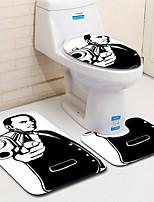 Недорогие -3 предмета Modern Коврики для ванны 100 г / м2 полиэфирный стреч-трикотаж Креатив / Геометрический принт нерегулярный Ванная комната Cool