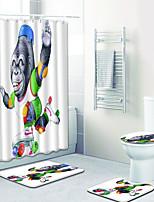 Недорогие -1 комплект На каждый день Коврики для ванны 100 г / м2 полиэфирный стреч-трикотаж Животное Прямоугольная Ванная комната Творчество