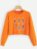 billiga -Dam Streetchic Byxor - Figur Orange