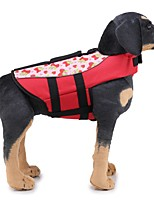 baratos -Cachorros Colete Salva-Vidas Roupas para Cães Sólido / Clássico Laranja / Verde Tecido Ocasiões Especiais Para animais de estimação Unisexo Original / Casual / desportivo