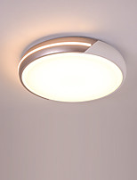 abordables -Montage du flux Lumière d'ambiance Finitions Peintes Métal Acrylique Design nouveau AC100-240V Blanc Crème / Blanc Source lumineuse de LED incluse / LED Intégré