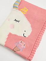 baratos -flanela do unicórnio, cobertores reativos da fibra do algodão dos desenhos animados da cópia