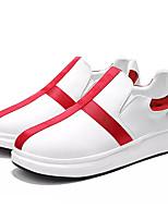 Недорогие -Муж. Комфортная обувь Полиуретан Осень На каждый день Кеды Нескользкий Контрастных цветов Красный / Черно-белый / Белый / синий