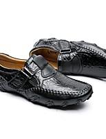 Недорогие -Муж. Кожаные ботинки Кожа Наступила зима На каждый день Кеды Нескользкий Черный / Коричневый
