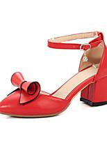 abordables -Femme Chaussures de confort Polyuréthane Printemps Chaussures à Talons Talon Bottier Blanc / Noir / Rouge