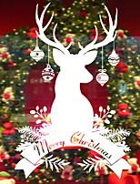 Недорогие -Оконная пленка и наклейки Украшение Старинный / Рождество Праздник ПВХ Стикер на окна / Магазин / Кафе