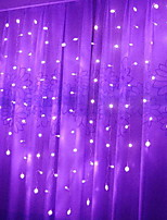 billiga -2m Ljusslingor 128 lysdioder Lila Dekorativ 220-240 V 1set