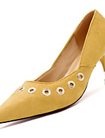 baratos -Mulheres Stiletto Couro Ecológico Outono Casual Saltos Salto Sabrina Preto / Amarelo / Amêndoa / Diário